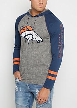 Denver Broncos Textured Baseball Hoodie