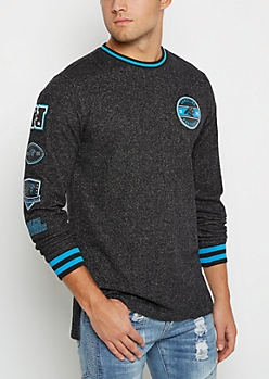 Carolina Panthers Patchwork Long Length Sweatshirt