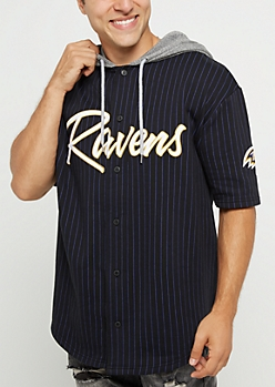 Baltimore Ravens Hooded Baseball Jersey