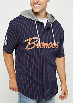 Denver Broncos Hooded Baseball Jersey