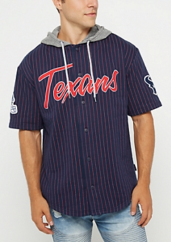 Houston Texans Hooded Baseball Jersey