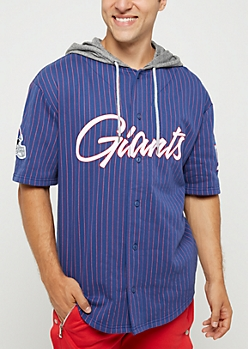 New York Giants Hooded Baseball Jersey