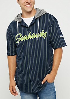 Seattle Seahawks Hooded Baseball Jersey