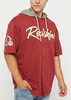 Washington Redskins Hooded Baseball Jersey