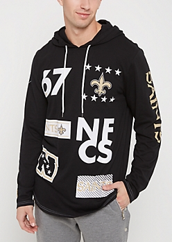 New Orleans Saints Mixed Logo Hoodie