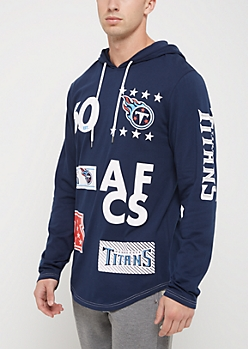 Tennessee Titans Mixed Logo Hoodie