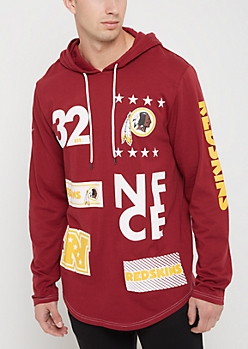 Washington Redskins Mixed Logo Hoodie