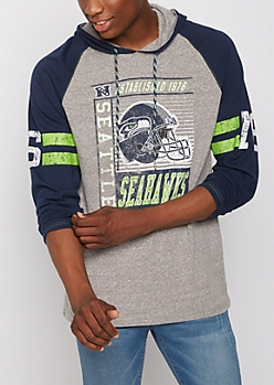 Seattle Seahawks Crackled Raglan Hoodie