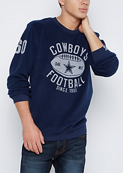 Dallas Cowboys Reversed Fleece Sweatshirt