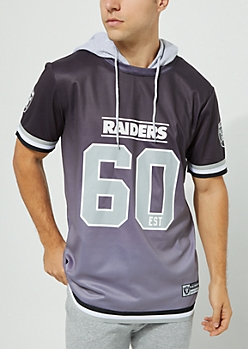 Oakland Raiders Hooded Mesh Top