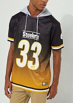 Pittsburgh Steelers Hooded Mesh Top