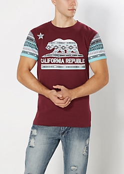 Aztec Cali Republic Blocked Tee