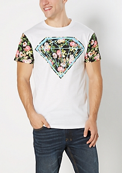 Floral Gemstone Color Block Tee