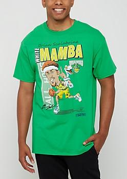 Green Signed White Mamba Tee