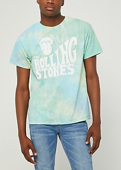 Rolling Stones Logo Pastel Tie Dye Tour Tee
