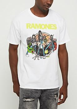 The Ramones Cartoon Band Tee