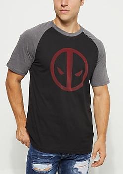 Deadpool Logo Raglan Tee