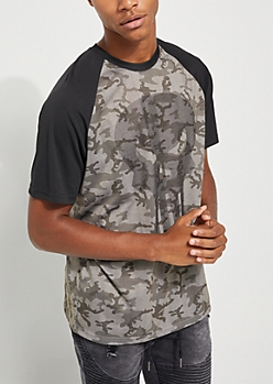 Camo Punisher Raglan Tee