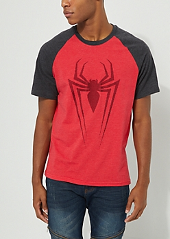 Spiderman Red Contrast Tee