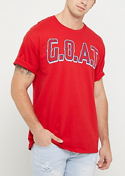 Red G.O.A.T. Tee