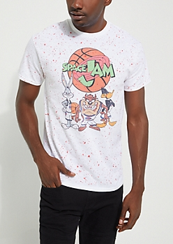 Space Jam Squad Paint Splattered Tee