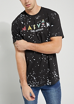 Marvin the Martian Paint Splattered Tee