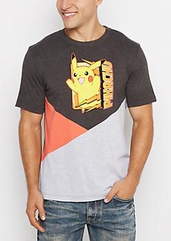 Pikachu Attack Color Split Tee