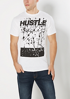 Hustle Splattered Tee