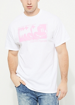 White Mickey Mouse Stamp Short Sleeve Tee