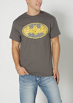 Gray Superman Rose Tee