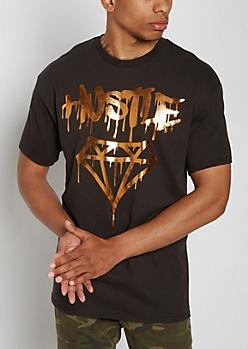 Copper Foil Hustle Drip Gem Tee