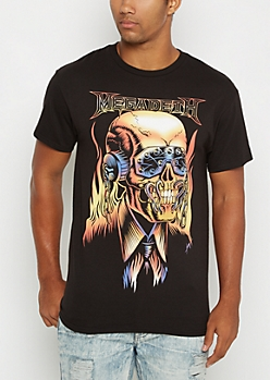 Megadeath Retro Band Tee