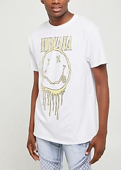 Nirvana Dripping Smiley Tee