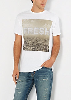 Fresh City Grid Tee