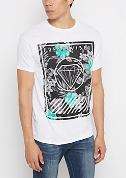 Fresh Vibes Tropical Tee