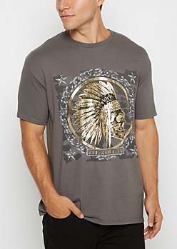 Skull Headdress Foil Tee