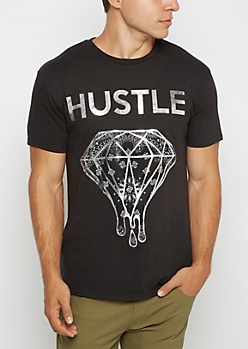 Hustle Foiled Stone Tee