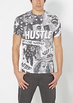 Money Hustle Collage Tee