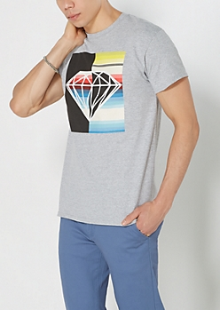 Striped & Split Gem Tee