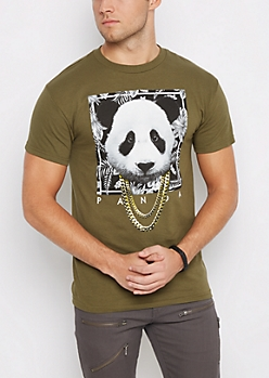 Panda in Chains Olive Tee