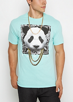 Mint Panda in Chains Tee