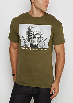 Olive Marilyn Live Fast Tee