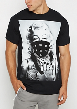Black Marilyn Gangsta Tee