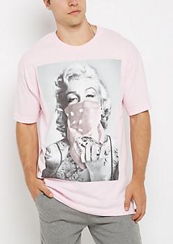 Pink Marilyn Bandana Tee