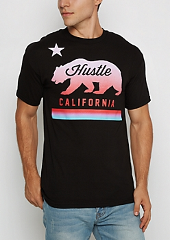 Sunset Cali Hustle Tee