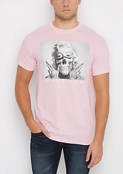 Pink Marilyn Live Fast Tee