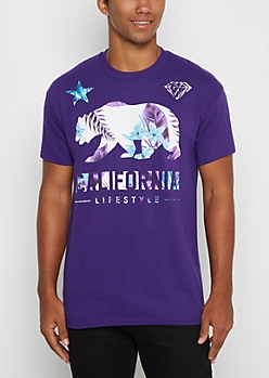 Purple Cali Tropical Lifestyle Tee