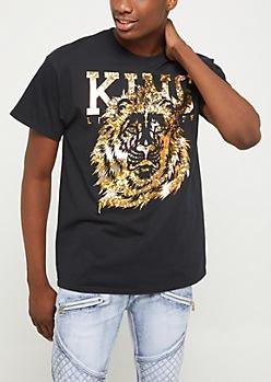 Black Foil King Life Tee