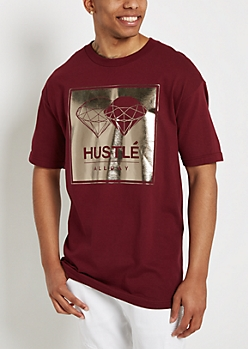 Hustle All Day Gold Foil Tee