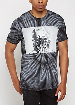 Black Tie Dye Marilyn Gem Tee